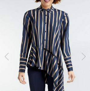 Nanette Lepore asymmetric button up blouse